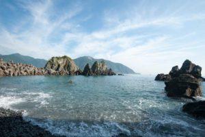 藍天白雲太平洋的海