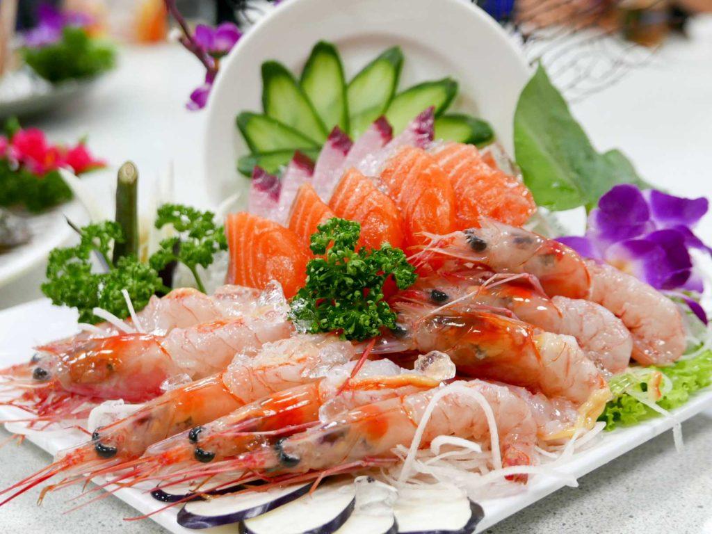甜蝦生魚片
