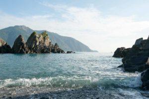 龜山島的海浪美景