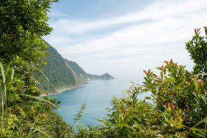 遠看龜山島美景 藍色的太平洋