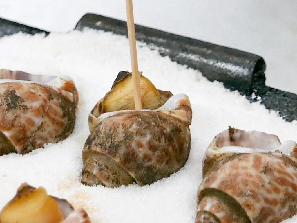 鹹烤鳳螺-南方澳活海鮮